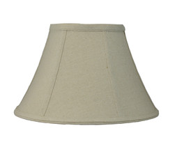 "Urbanest Softback Bell Lamp Shade,7""x14""x9"",Natural Linen Fabric,Spider Fitter - $33.65"