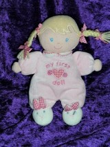 Carters Child of Mine My First Doll Blonde Braid Pigtail Rattle Bunny Sl... - $49.49
