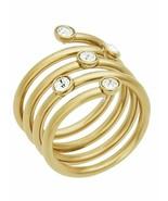 MICHAEL KORS MKJ5537710 BRILLIANCE GOLD TONE LADIES RING SIZE 7 - £70.17 GBP