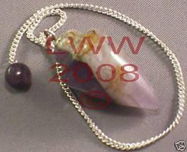 Amethyst Gemstone Pendulum Pagan NEW Scrying WiccanNEW - $6.85