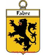 FABRE French Coat of Arms Print FABRE Family Crest - $25.00