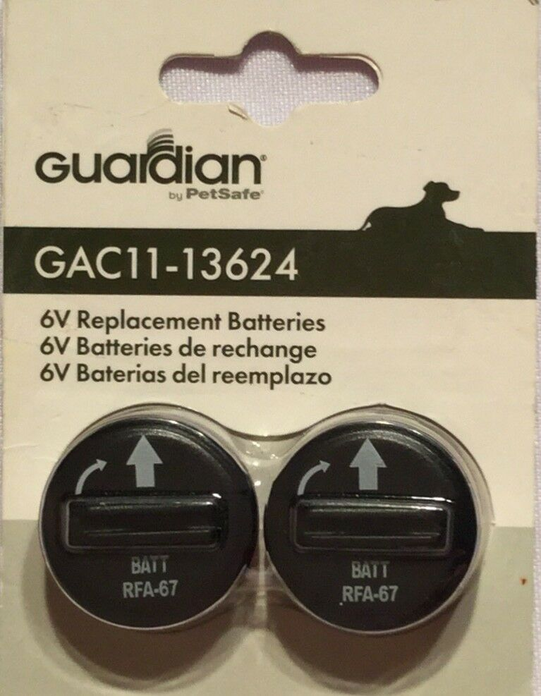 Guardian by PetSafe 6V Replacement Batteries, 2-Pack, GAC11-13624, Dog Bark Fenc - $12.00