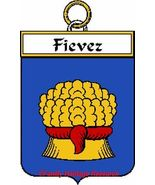 FIEVEZ French Coat of Arms Print FIEVEZ Family ... - $25.00