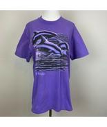 Vintage Florida Dolphins T-Shirt Hanes Beefy XL Purple Graphic Single St... - $28.91