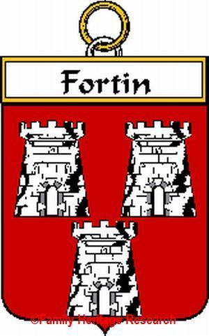 FORTIN French Coat of Arms Print FORTIN Family Crest Bonanza