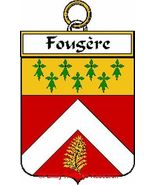 FOUGERE French Coat of Arms Print FOUGERE Famil... - $25.00