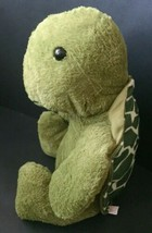 Goffa Green Turtle Stuffed Animal Plush Toy Reptile Spotted Shell 14 Inches - $17.81