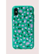 Kate Spade NY iPhone X/XS Rhinestone Case Greenmulti Party Floral Jeweled New - $19.79