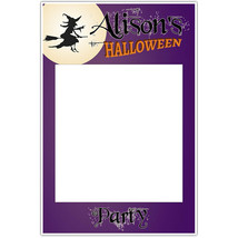 Witch Moon Halloween Party Selfie Frame Social Media Photo Prop Poster - $16.34+