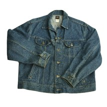 Vintage Lee Riders PATD 153438 Denim Trucker Jean Jacket USA Made Size L... - $84.99