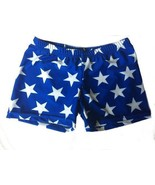 """NEW Women's Blue with White Stars 2.5"""" Volleyball Crossfit Compression S... - $14.95"""