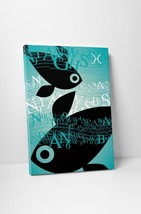 "Zodiac Sign Pisces Gallery Wrapped Canvas 16""x20"" - $42.52"