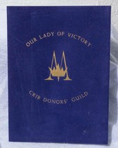 Vintage Our Lady Of Victory Crib Donors' Guild Mass Certificate 1982 mv - $10.88