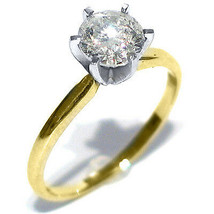.80CT WOMENS SOLITAIRE BRILLIANT ROUND DIAMOND ENGAGEMENT RING YELLOW GO... - £2,460.49 GBP