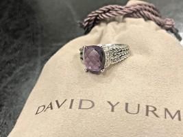 David Yurman Ring Petite Wheaton Amethyst And Diamond Size - 7 - $299.99