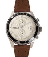 FOSSIL CH2943 WAKEFIELD WHITE DIAL BROWN LEATHER MEN'S WATCH - $191.17