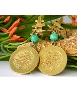 Vintage Kenneth Lane Earrings Signed Oriental A... - $59.95