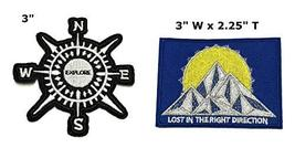 Explore and Lost in The Right Direction National Park Series 2-Pack Embroidered  - $7.88