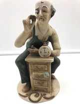 Homco Figurine Old Clock Repair Watchmaker Jeweler Home Decor Taiwan Retired - $46.75