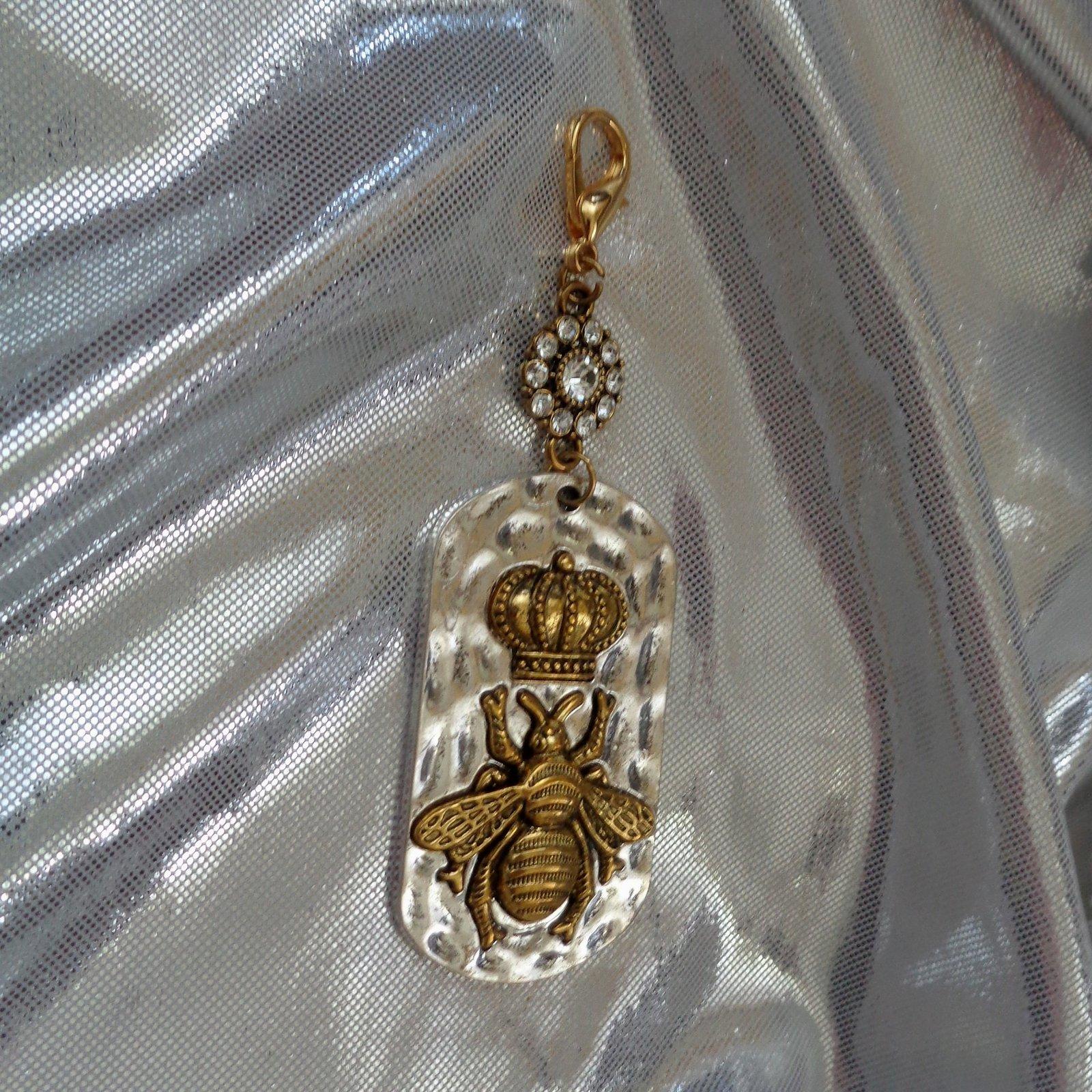 Glitzy Royal Purse Fob- Crown Purse Fob- Glamorous Purse Charm- Royal Glamor image 4