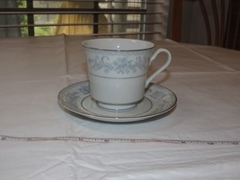 Mikasa Fine China Dresden Rose L9009 Tea/Coffee Cup & Saucer White Blue ... - $39.59
