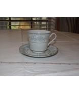 Mikasa Fine China Dresden Rose L9009 Tea/Coffee Cup & Saucer White Blue ... - $39.59