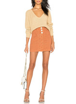Free People Womens V Neck OB894277 Sweater Relaxed Camel Brown Size XS - $49.92
