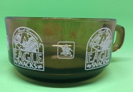 VINTAGE Anhueser Busch Eagle Snacks Amber Brown Glass Bowl Cup Anchor Ho... - $18.69