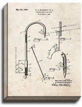 Gaff for Fishing Patent Print Old Look on Canvas - $39.95+