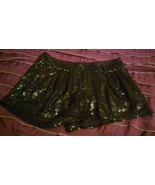 Sparkly Black Sequin Shorts by XXI Forever 21 Cabaret Style Sz S/P NWOT!  - $17.61