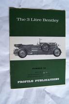 bentley 3 liter profile publications brochure history  - $24.95