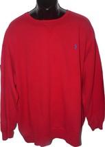 NWT POLO RALPH LAUREN Large Tall red pullover crew neck sweatshirt logo LT - $58.19