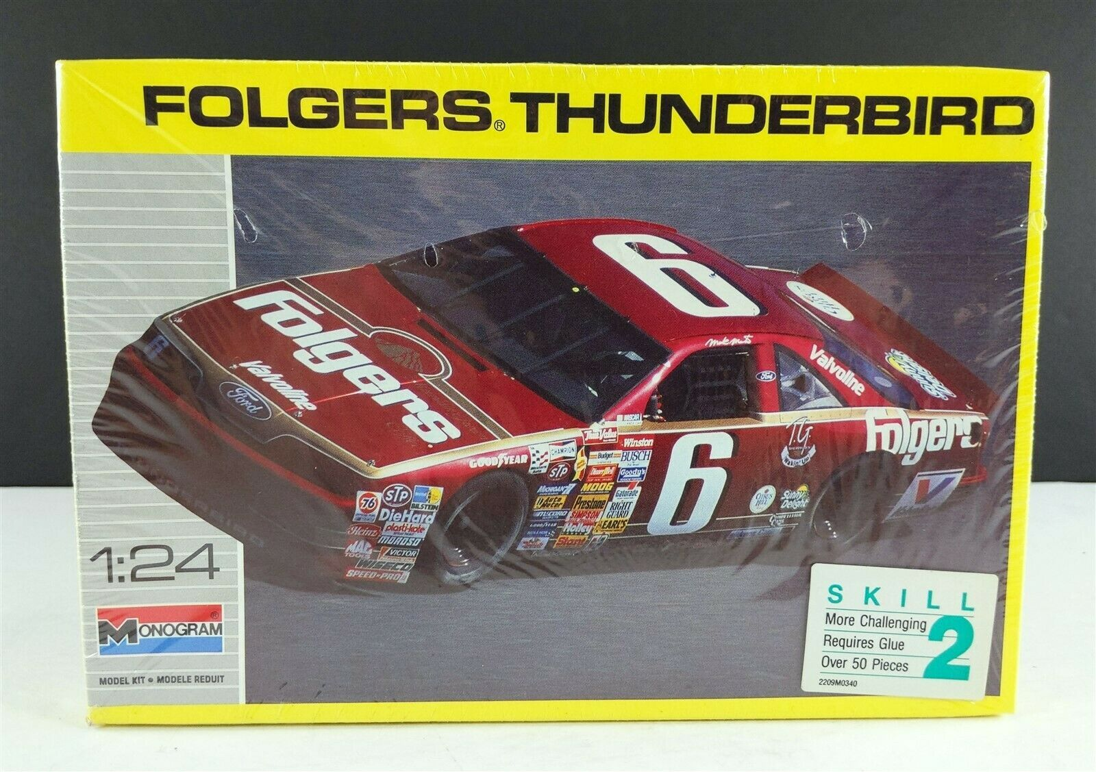 Primary image for MONOGRAM 2928 FOLGERS Thunderbird Mark Martin 1:24 Model Car Kit