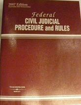 Federal Civil Judicial Procedure and Rules 2007 [Paperback] Thomson West