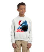 Kids Youth Sweatshirt Santa Jaws Merry Christmas Ugly Xmas Funny - $25.94