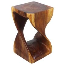 Haussmann Original Wood Twist Stool 12 X 12 X 20 In High Livos Walnut Oil - $142.95