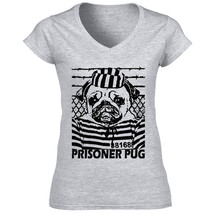 Prisoner Pug P - New Cotton Grey Tshirt S-M-L-XL-XXL - $24.80