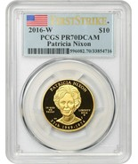 2016-W Patricia Nixon $10 PCGS PR 70 DCAM (First Strike) - - $2,182.50