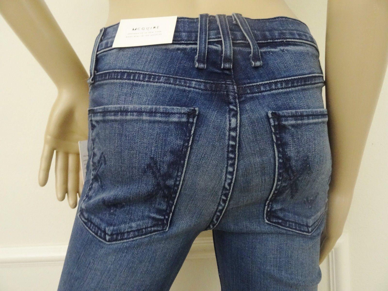 Nwt McGuire 788 Gainsbourg High Waist Stretch Bootcut Denim Jeans Sz 25 0 Molino