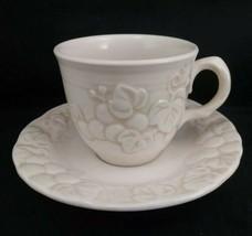Vintage Metlox Poppytrail Antique White Grape Saucer + Cup, 2 Sets Avail, Vgc - $9.90