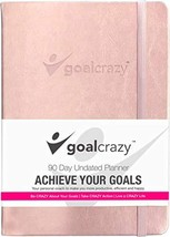 Goal Crazy Undated Planner - 90 Day Guided Journal, 2019 2020 Weekly Org... - $27.39