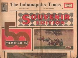 Indianapolis 500 Indianapolis Times Race Souvenir Edition 5/26/1961-G - $50.44