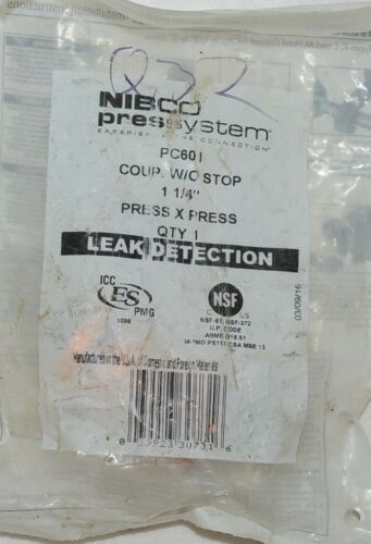 Nibco Press System PC601 Coupling Without Stop 1 and Quarter Inch 90520550PC