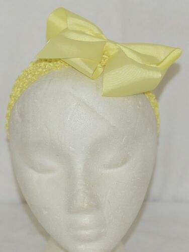 Unbranded Girl Infant Toddler Headband Removable Hair Bow Yellow