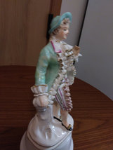 Vintage Made in Occupied Wales Japan Porcelain Figurine Colonial/Victorian Man F image 3