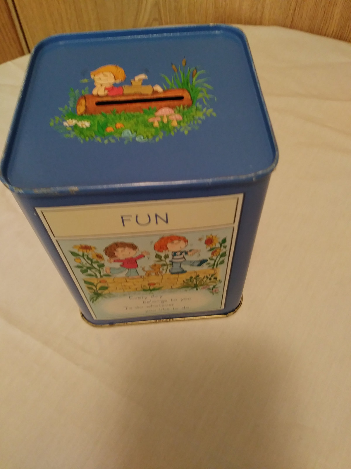 Vintage Hallmark Coin Tin Collectible Adventure, Fun,Discovery,Imagination Child
