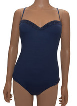 La Perla Blue Beaded Underwire Padded One Piece Swimsuit 10 - $272.25