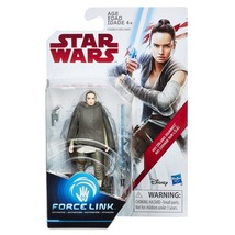 Star Wars Force Link Rey (Island Exile) 3 3/4 Inch Action Figure NIB - $7.42