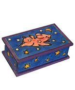 Flying Pig Secret Box Polish Handmade Linden Wood Keepsake Secret Openin... - $54.06 CAD