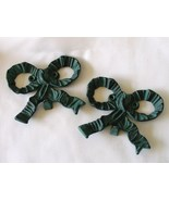 Rustic Cast Iron Bows Wall Hooks Hangers Blue G... - $24.99
